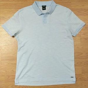 [Hugo Boss] Light Blue Mercerized Cotton Logo Polo